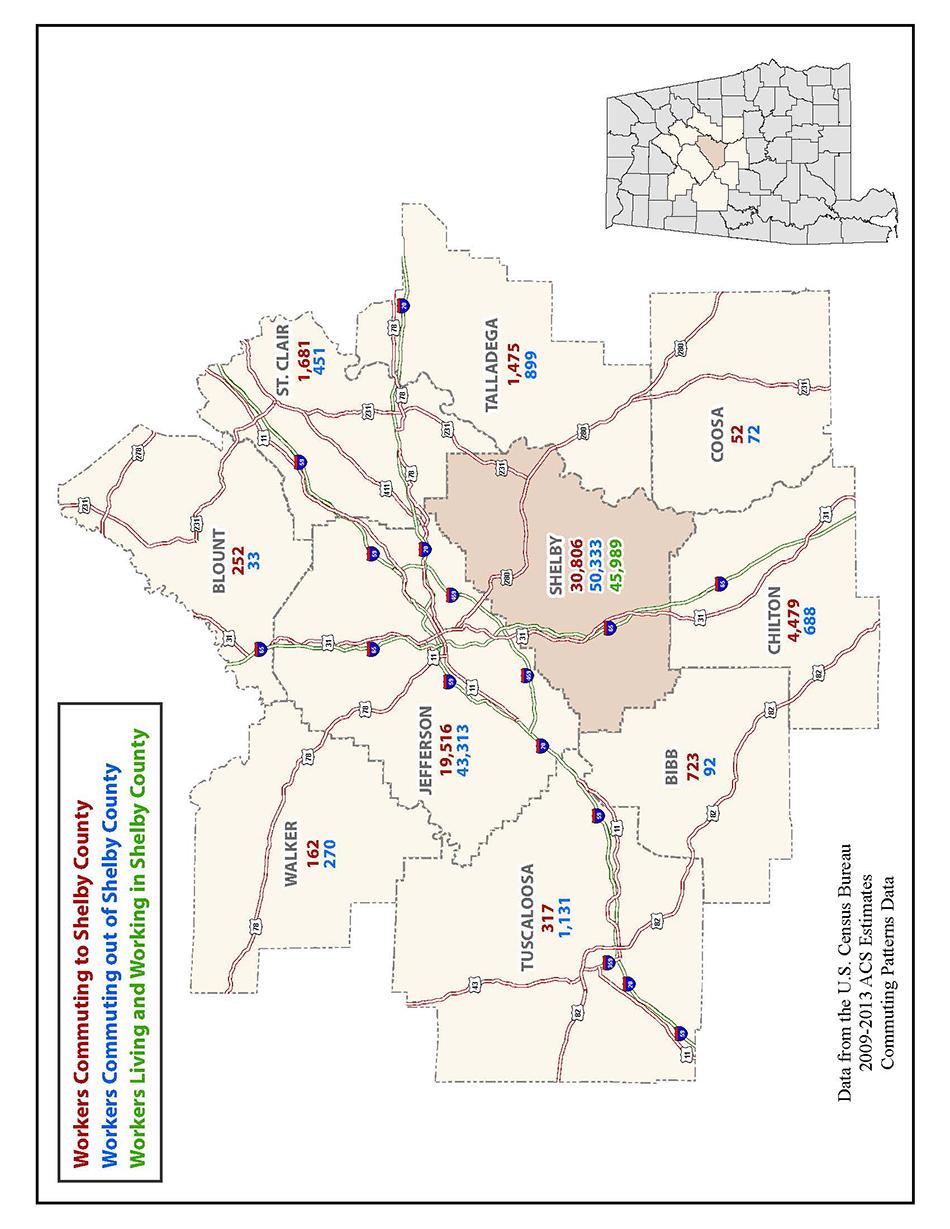 Alabama shelby county wilton - Transportation Maps