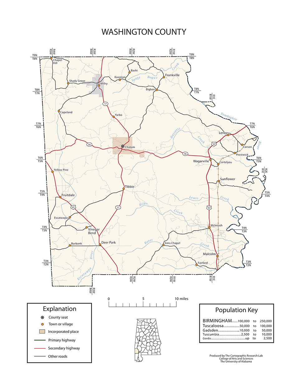 Alabama washington county wagarville - Transportation Maps