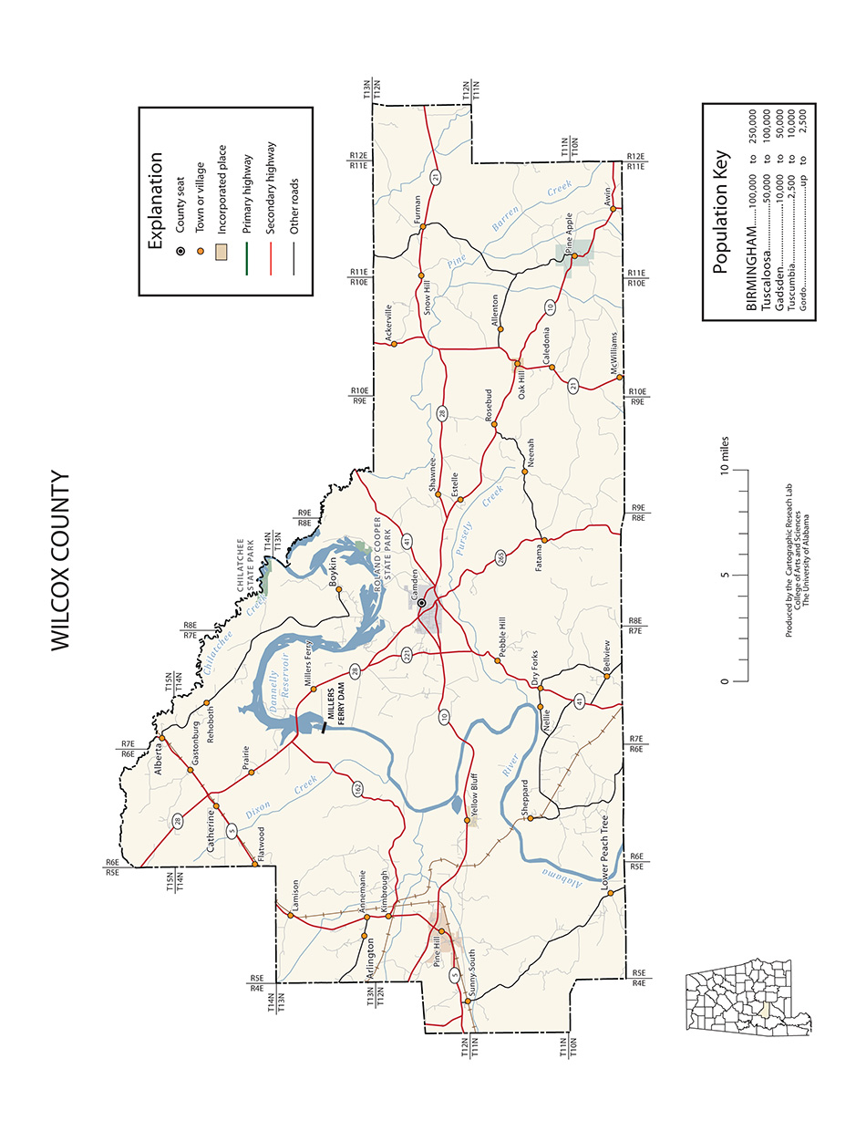 Alabama wilcox county catherine - Transportation Maps